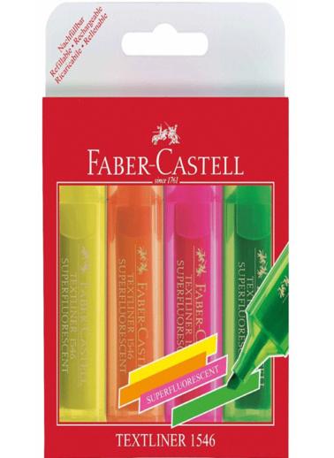 Faber Castell Fosforlu Kalem 4Lü Poşet Renkli